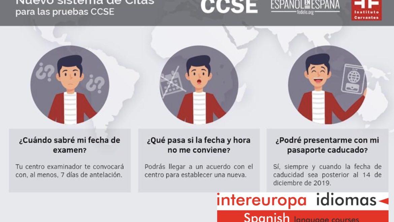 Nuevo sistema de citas para el examen del CCSE