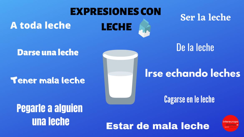 "Expresiones idiomáticas con ""leche"""